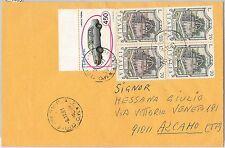 53995 - REPUBBLICA - Storia Postale: Sass 928Aa in coppia con normale su BUSTA