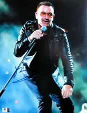 Bono Signed Autographed 11X14 Photo U2 Singing with Mic Stand Gv806551