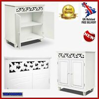 Classic White Wood Dresser Cupboard Cabinet Storage Display Furniture Sideboard