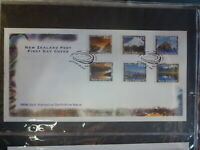 NEW ZEALAND 1996 NZ SCENERY SELF ADHESIVE COIL STAMPS SET 6 FIRST DAY COVER