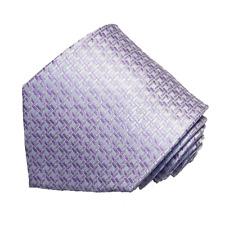 Men's lavender color geometric patterned neck tie