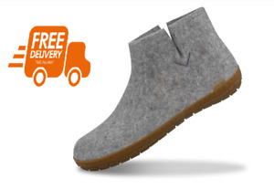 NEW Glerups The Boot with natural rubber sole – honey – Grey