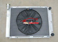 3 Row Aluminum Radiator + Fan For Holden Commodore Calais VL RB30 6Cyl 1986-1988