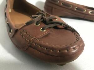 Zara Moccasin women's Brown Leather Tassel Flat slip on Size US 9 / EU 40