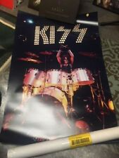 Peter Criss Kiss Drummer Vintage Full Size Poster Catman Kiss Live Concert 1973