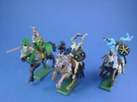 BRITAINS DEETAIL MOUNTED KNIGHTS 3 FIGURES SET#2 FACTORY NEW STOCK FREE SHIP