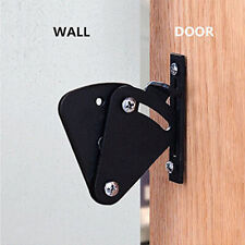 Black Carbon Steel Large Size Sliding Barn Door Lock Pull Door Latch Hardware D