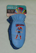 vintage Super Friends SUPERMAN VINYL MITTENS GLOVES for kids