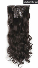 "OneDor 20"" Curly Full Head Synthetic Clip in Hair Extensions Hairpieces 7 Pcs"