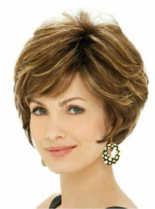 High Quality Wig New Gorgeous Women's Short Light Brown Straight Natural Wigs