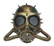 Gold N' Green Steampunk Submarine Half Mask Spikes Adult Masquerade Scuba Diver