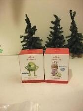 2 2013 HALLMARK MONSTERS INC 'DISCO BALL MIKE' 'BOO AND MIKE' PRECIOUS MOMENTS