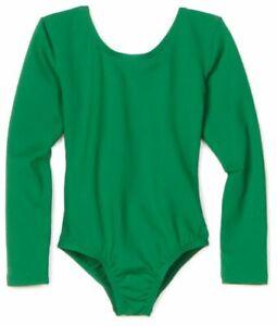 Danskin Adult Long Sleeve Leotard Kelly Green #2906