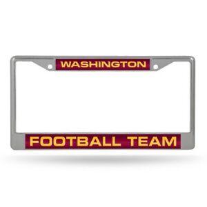 NFL Washington Football Team Laser Cut Chrome License Plate Frame