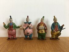 Timpo Set Of Four Lead Circus Clowns From 1951