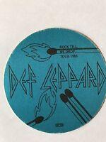 RARE Def Leppard 1983 Rock Till We Drop Tour Unused Satin Backstage Pass Metal