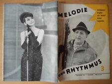 MELODIE UND RHYTHMUS 3/1963 Lutz Jahoda Rena Rolska Fania Fenelon Margot Dörr