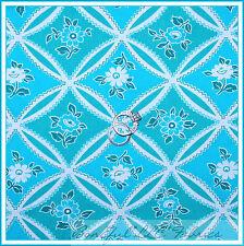 BonEful Fabric FQ Cotton Quilt Aqua Blue Jennifer Paganelli S Flower Shabby Chic