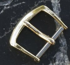 Vintage gold-plated watch buckle 15mm opening c. 1950s/60s rare size to find