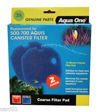 Aqua One- Filter Pad 2 Pack 37s (For Aquis 500/700 Canister Filters) (25037s)