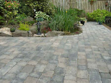 Tumbled 2 Size Block Paving, Colour - Graphite Blend, Pack 8.35m2 - Collected