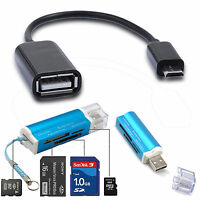 USB Memory Card Reader + Micro USB OTG Cable for Samsung Galaxy S7 edge S6 Note5