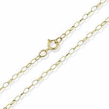 9CT SOLID YELLOW GOLD 16 FINE BELCHER ROLO CHAIN PENDANT NECKLACE FREE GIFT BOX