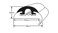 BOAT FENDER BLACK RIGID PVC WITH 43MM BASE BOAT CHANDLERY ,BOAT,YACHT (3.65M)