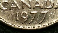 CANADA 1977 5 CENTS *LOW 7* VARIETY- V.F Cond!