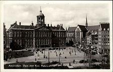Amsterdam Niederlande s/w Postkarte ~1950/60  Dam met Kon Paleis ungelaufen