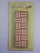 Vintage Houseworks Dollhouse Miniatures Genuine Wood Parquet Flooring #7007