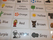 Colors Flash Cards.  Preschool and Pre Kindergarten learning activity.  20 cards