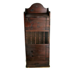 Apothecary Bathroom Medicine Wall Kitchen Cabinet  Wood Display Spindles Special