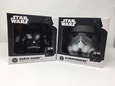 Star Wars Stormtrooper & Darth Vader Talking Light-Up Helmet with Timer Set Of 2