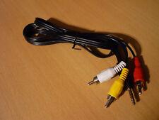 3.5mm stereo jack van/naar 3x Tulp audiokabel 120 cm NIEUW