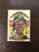 Rickey Henderson Collection With Autograph JSA Certifed