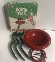 MCM North Star Vintage Christmas Tree Stand in Original Box Complete