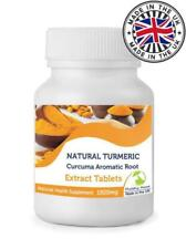 Turmeric 180 Tablets UK Curcumin Extract 1500mg Pills