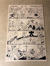 Stormwatch #36 original art BATTLE ACTION 1996 Image Wildcats Wetworks GEN 13