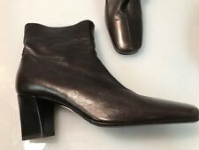 ENRICO ANTINORI Brown Leather Boots Size 36 Italian