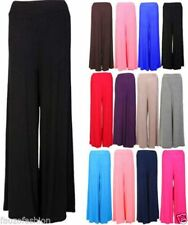Wide Leg Viscose High Rise Plus Size Trousers for Women