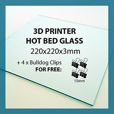 220mm x 220mm x 3mm 3D PRINTER GLASS for print bed Anet A8 Tronxy Reprap Prusa