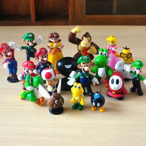 18 Pcs Super Mario Bros Action Figure Set Model Statue Kids Toy Cake Topper AU