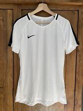Nike Women's White Black Short Sleeve Running Exercise T-Shirt Top, L (12-14)