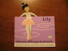 NEW Lily Ballerina clip-over-the-page Bookmark By Re-marks ballet dancer twins