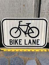 "New listing Authentic (New) ""Bike Lane� Street Sign 12� X 8�"