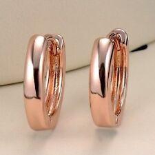 14 mm (1/2 inch) Stainless Steel ROSE Gold Small  Hoop Huggie Earrings