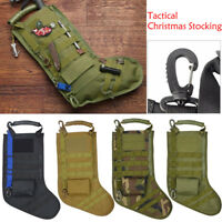 Tactical Xmas Stocking Molle Military Army Xmas Storage Bag Desert Woodland ME
