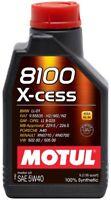 2 lt Motul 8100 X-Cess 5W40 Olio Motore 100% Sintetico ACEA A3/B4 API SN/CF