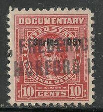 U.S. Revenue Documentary stamp scott r567 - 10 cent issue of 1951 - #3